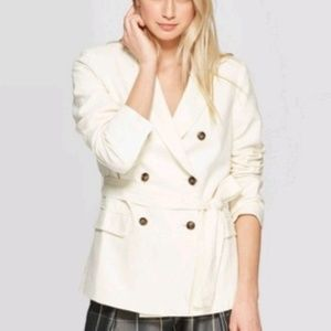 Who what wear Linen Double Breasted Blazer